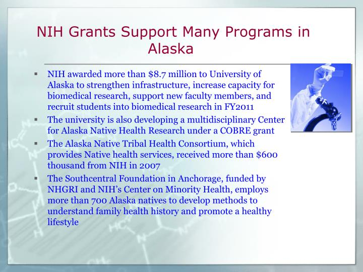 NIH Grants Support Many Programs in Alaska