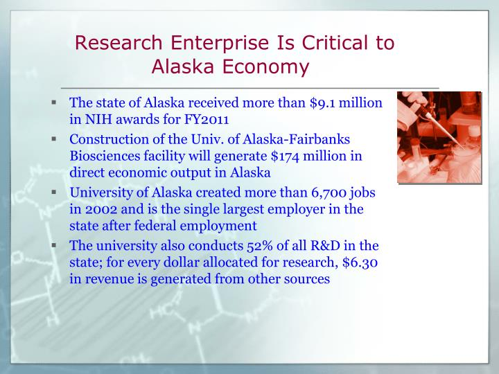 Research Enterprise Is Critical to Alaska Economy