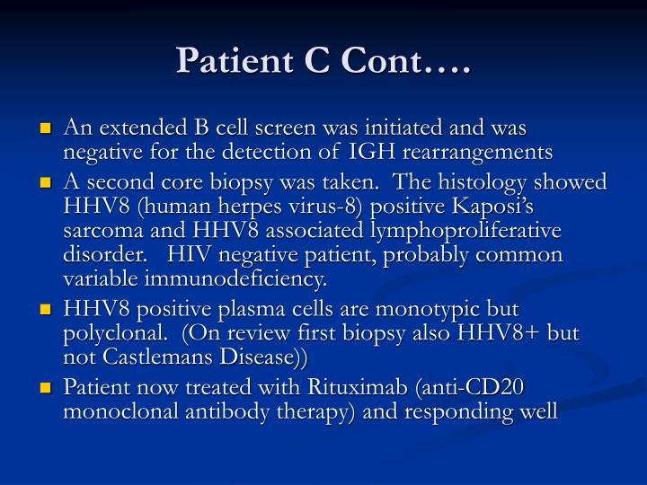 Patient C Cont….