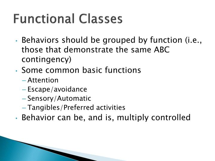 Functional Classes