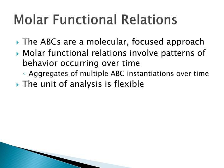 Molar Functional Relations