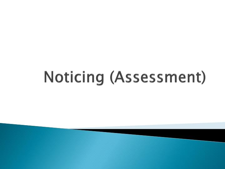 Noticing (Assessment)