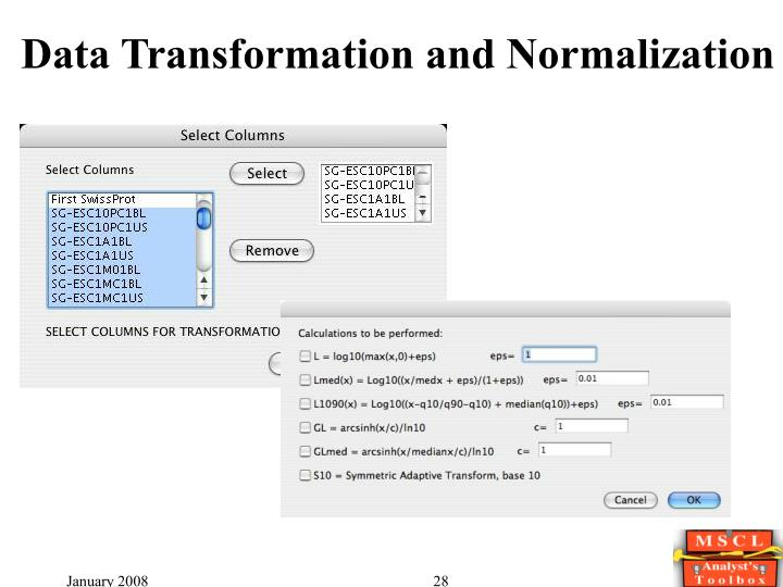 Data Transformation and Normalization