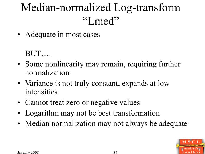 Median-normalized Log-transform
