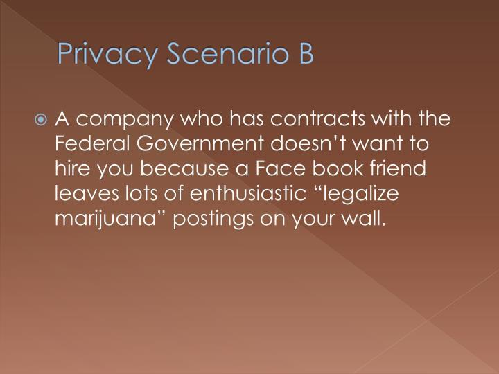 Privacy Scenario