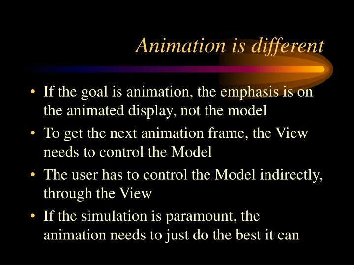 Animation is different