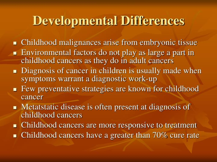 Developmental Differences