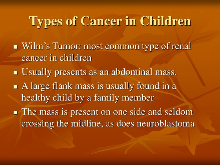 Types of Cancer in Children