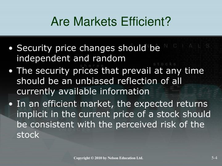 Are Markets Efficient?
