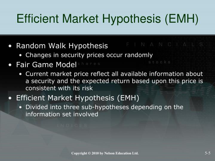 Efficient Market Hypothesis (EMH)