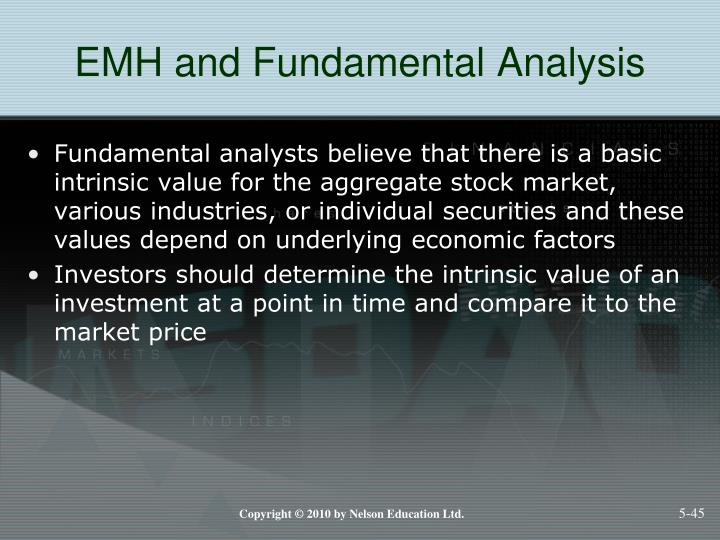 EMH and Fundamental Analysis