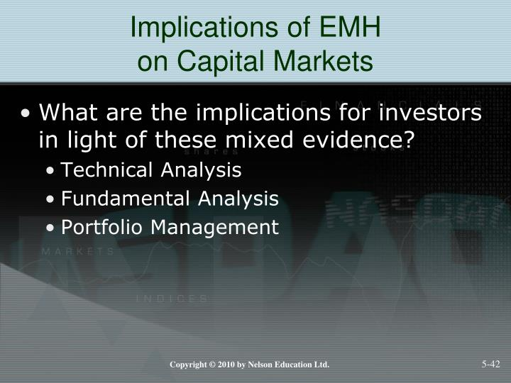 Implications of EMH
