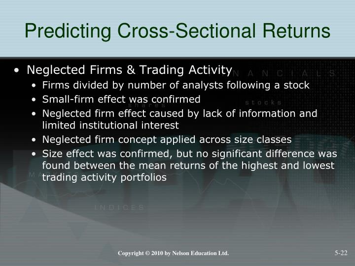 Predicting Cross-Sectional Returns