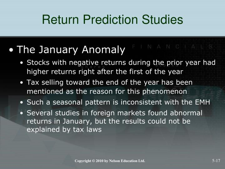 Return Prediction Studies