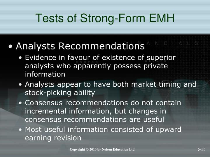 Tests of Strong-Form EMH