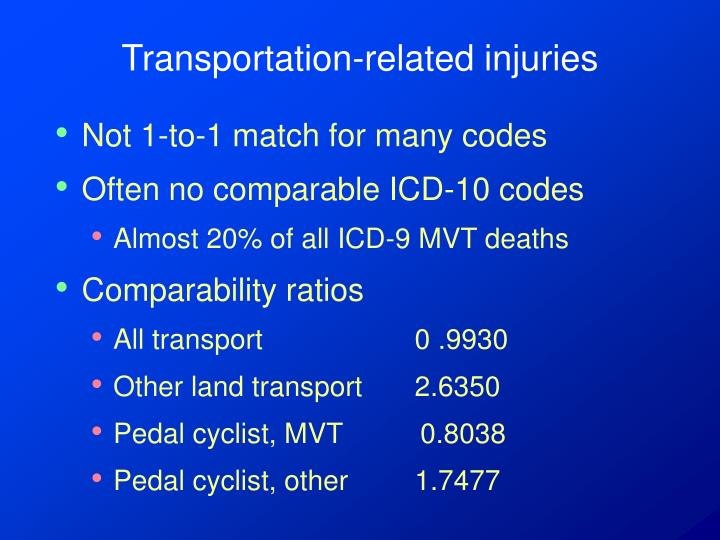 Transportation-related injuries