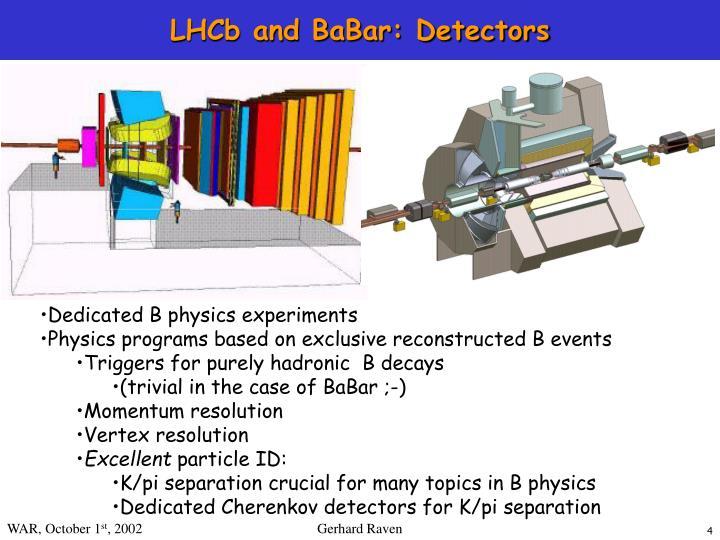 LHCb and BaBar: Detectors