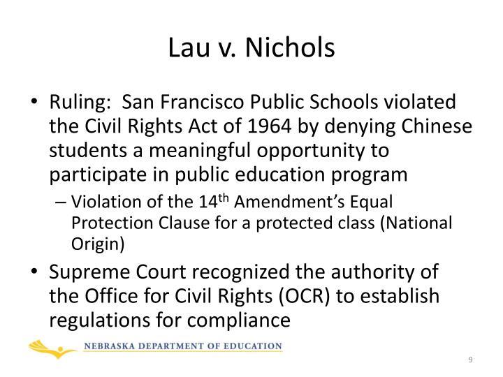Lau v. Nichols