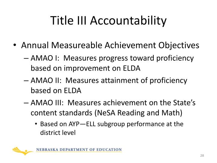 Title III Accountability
