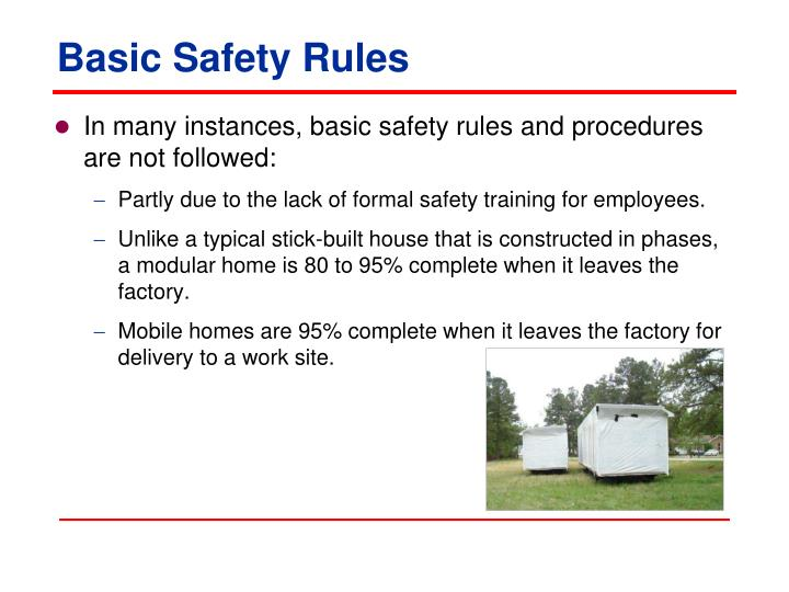 Basic Safety Rules
