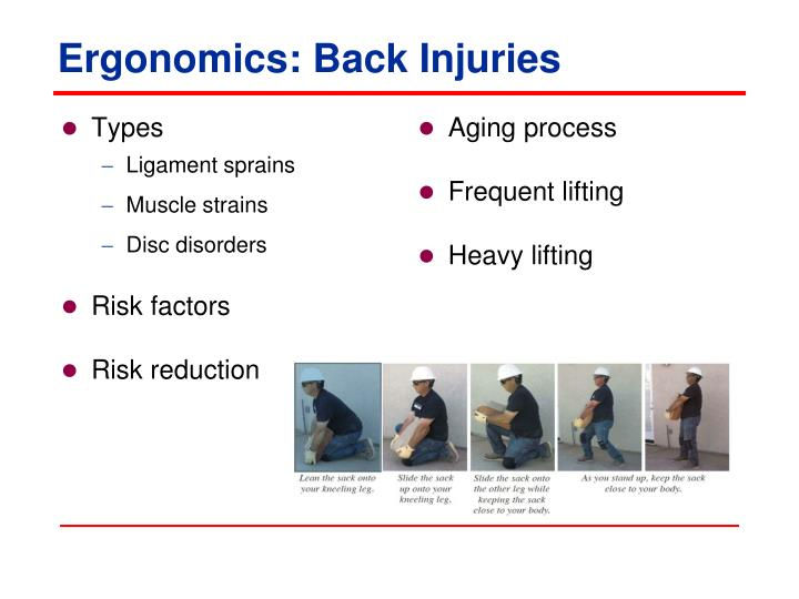 Ergonomics: Back Injuries