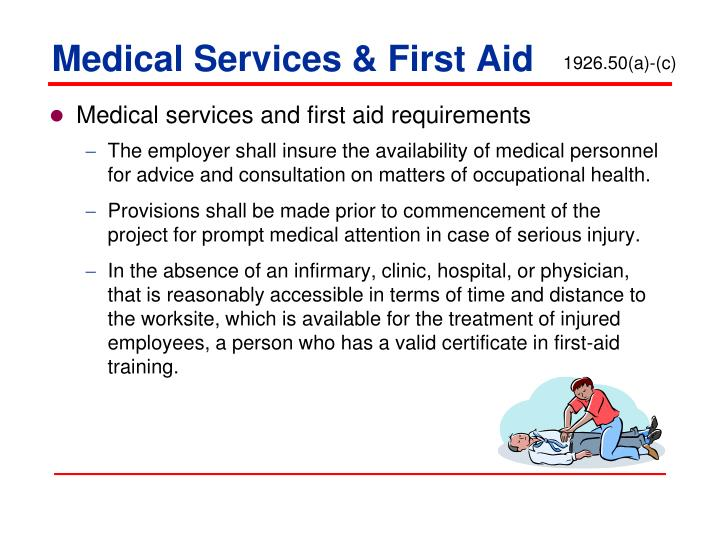 Medical Services & First Aid