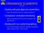 ordinance elements continued1