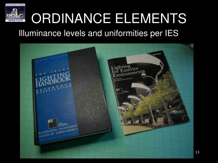 ORDINANCE ELEMENTS