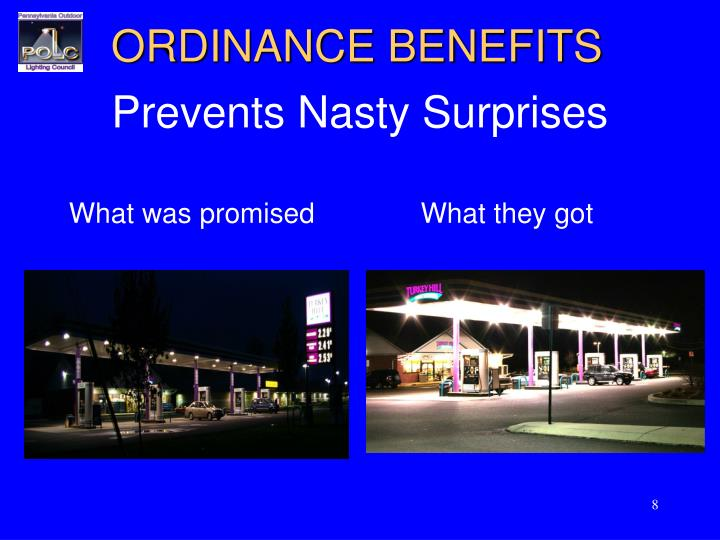 ORDINANCE BENEFITS