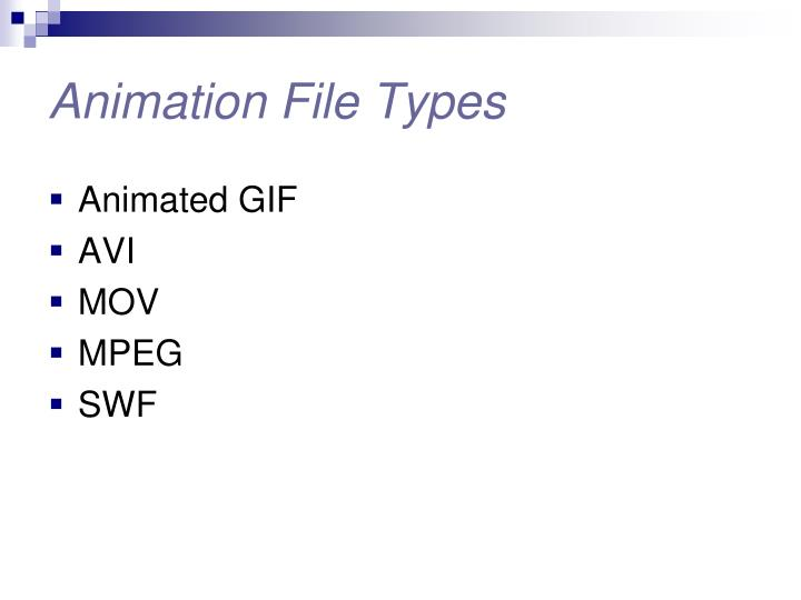 Animation File Types