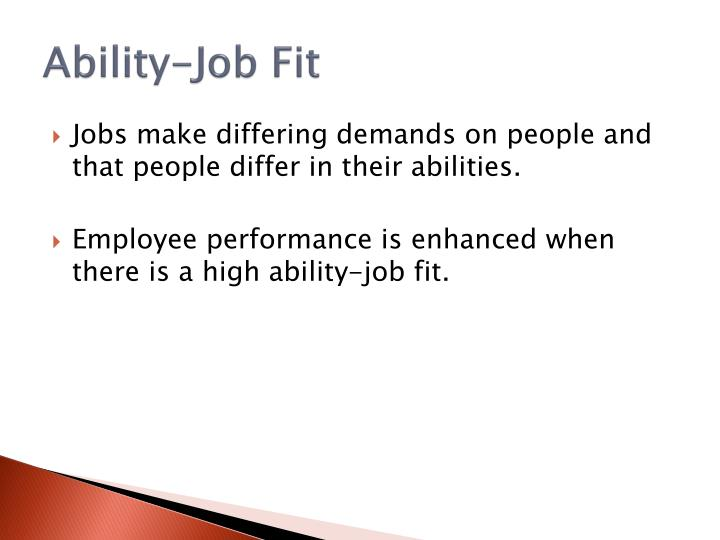 Ability-Job Fit
