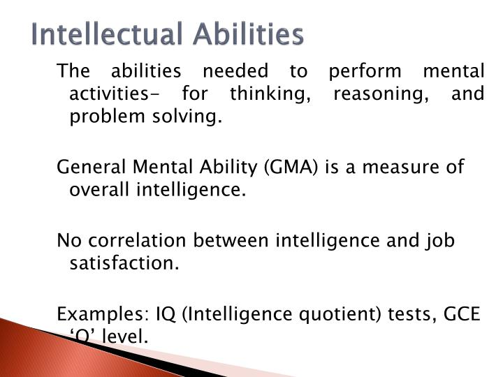 Intellectual Abilities