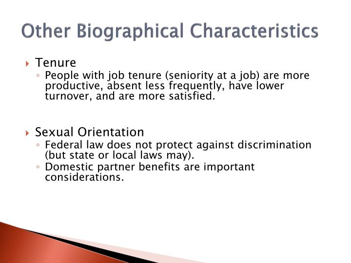 Other Biographical Characteristics
