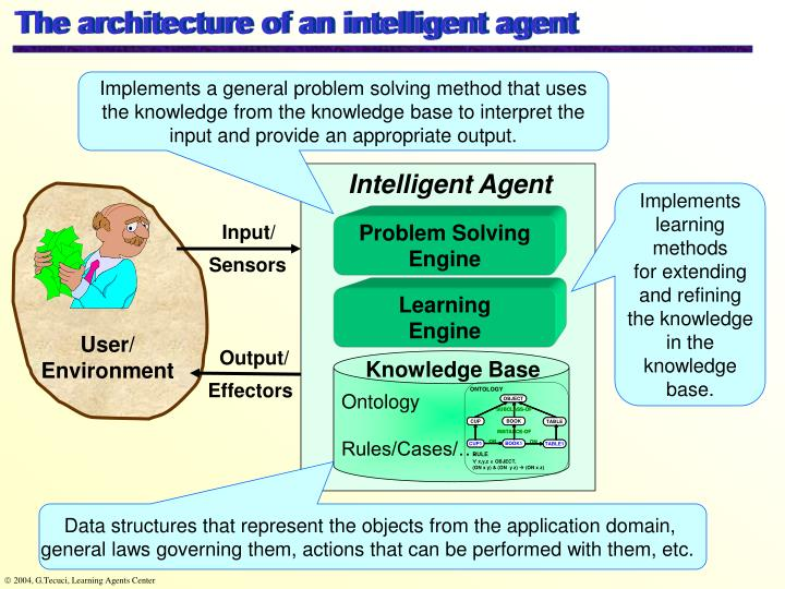 The architecture of an intelligent agent