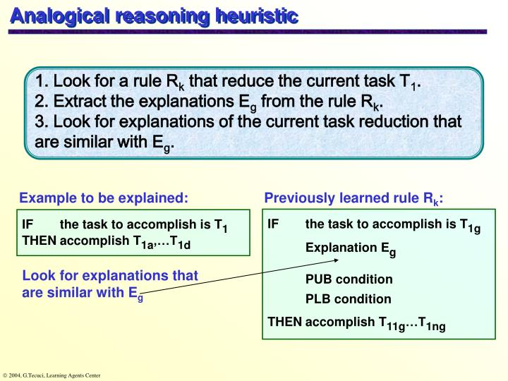 Analogical reasoning heuristic