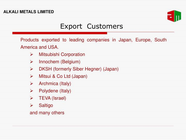 Export  Customers