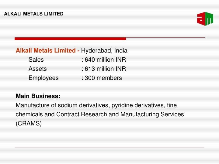 Alkali Metals Limited -
