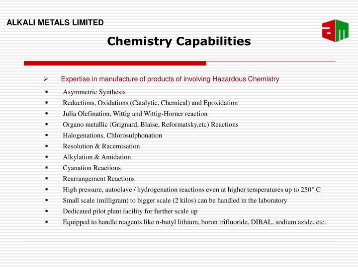 Chemistry Capabilities