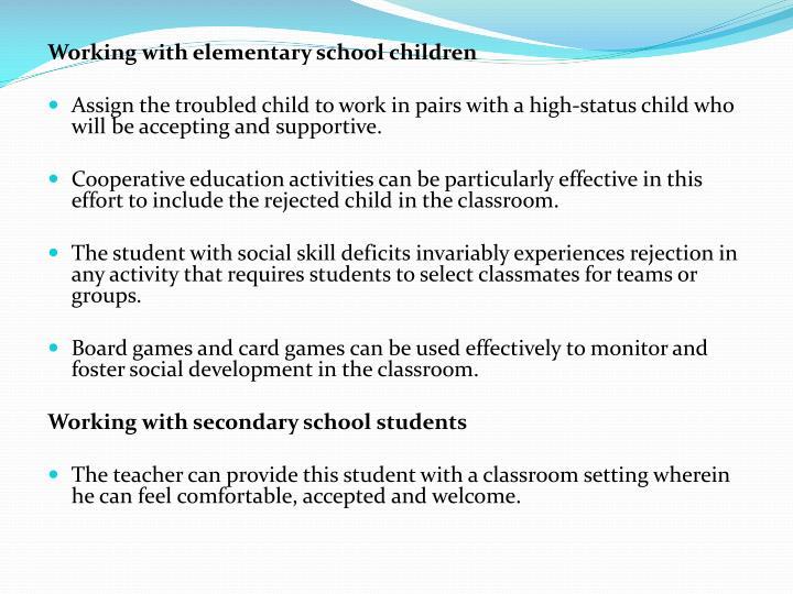 Working with elementary school children