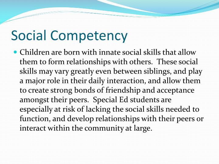 Social competency