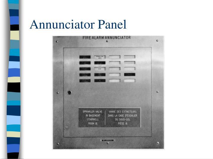Annunciator Panel