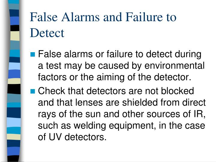 False Alarms and Failure to Detect