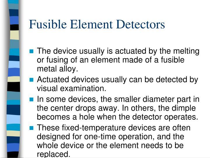 Fusible Element Detectors