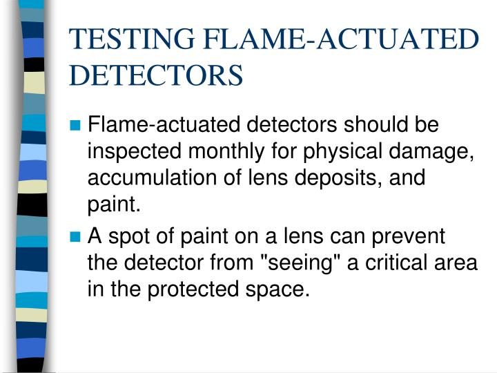 TESTING FLAME-ACTUATED DETECTORS