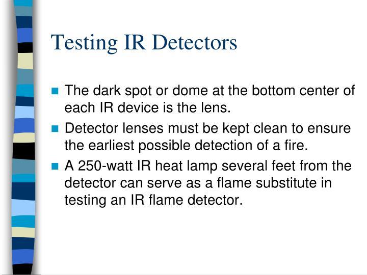 Testing IR Detectors