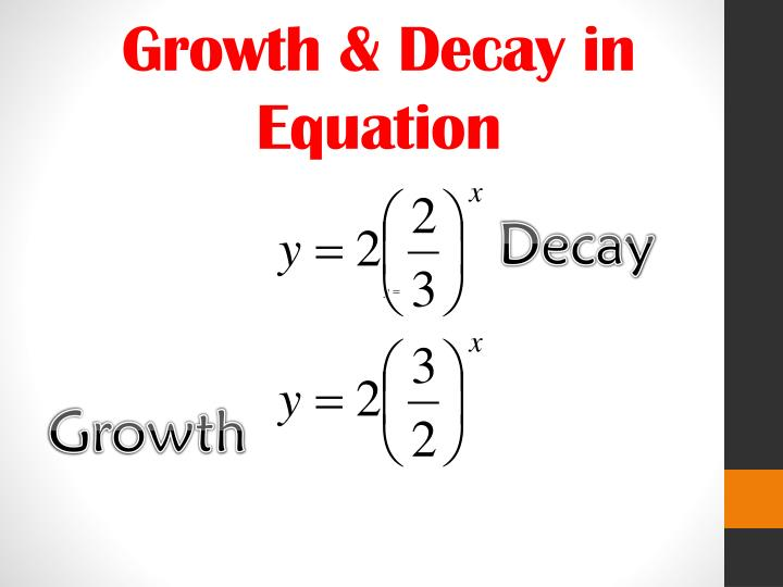 Growth & Decay in Equation