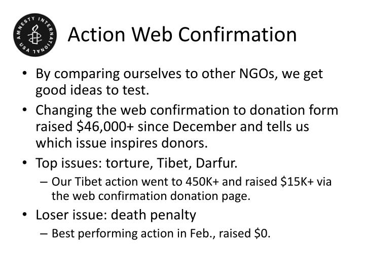 Action Web Confirmation