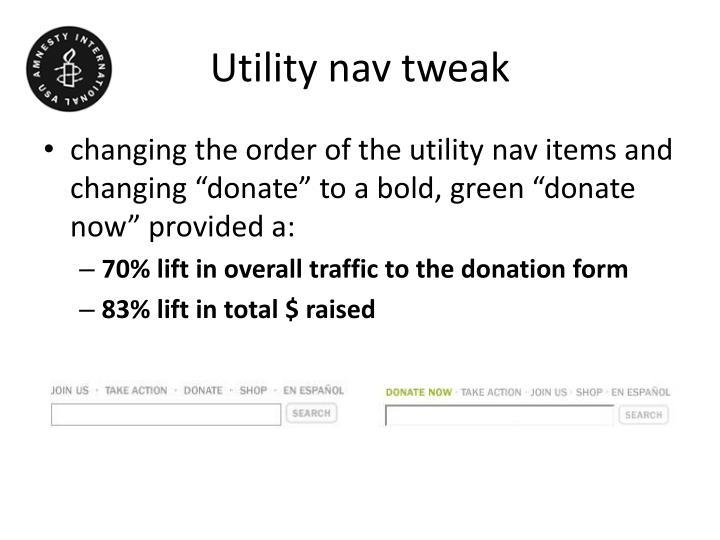 Utility nav tweak