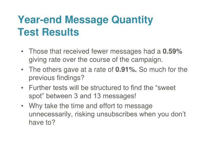 Those that received fewer messages had a