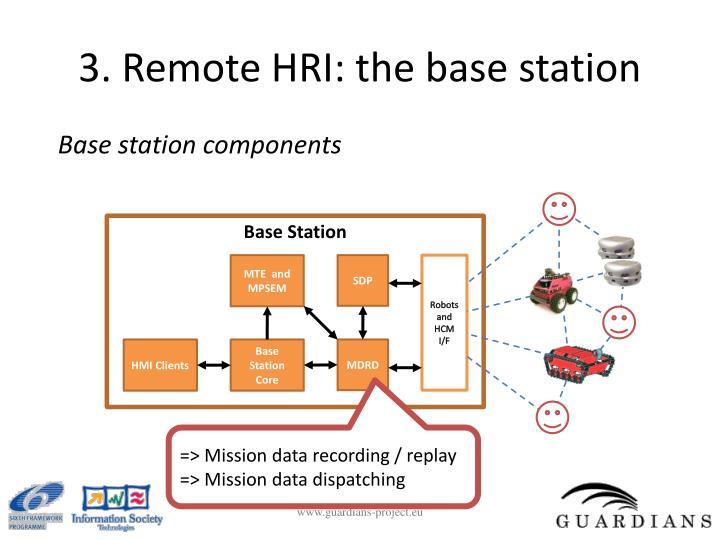 3. Remote HRI: the base station